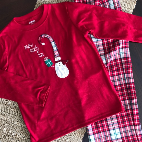 "Gymboree Other - Christmas Pajamas Set, Gymboree ""SNOW MUCH FUN"""